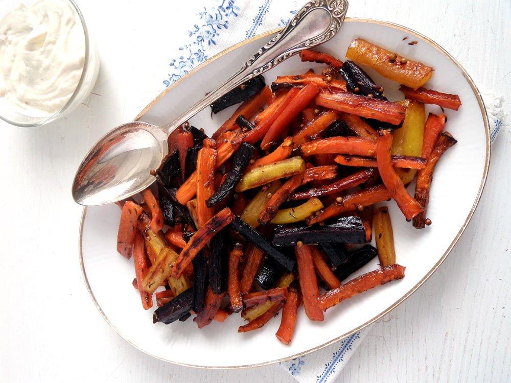 carrots glazed tahini Oven Roasted Pumpkin Recipe (Spicy Wedges)