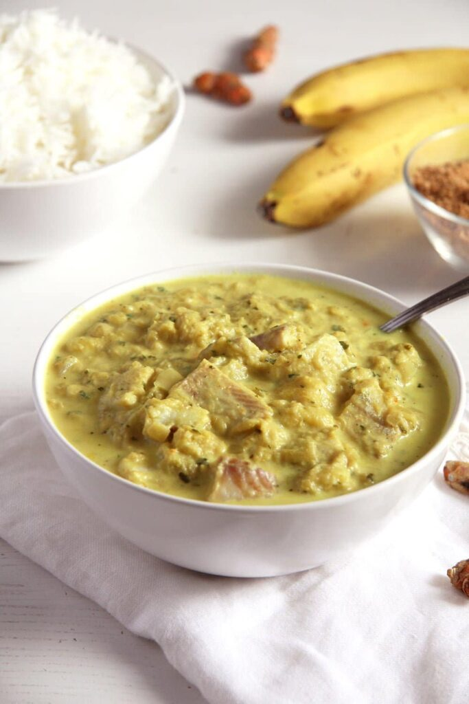 fish curry rhubarb banana 683x1024 Sweet and Sour Rhubarb Fish Curry with Bananas and Turmeric