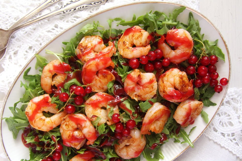 red currant shrimp Chicken Breast Skewers with Blackberry Sauce