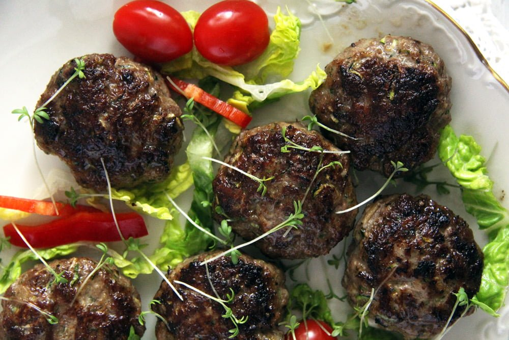 Juicy Zucchini Beef Meatballs with Parmesan