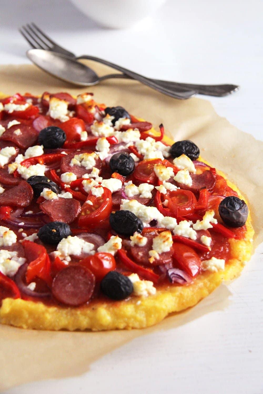 polenta pizza olives Crunchy and Spicy Polenta Chips