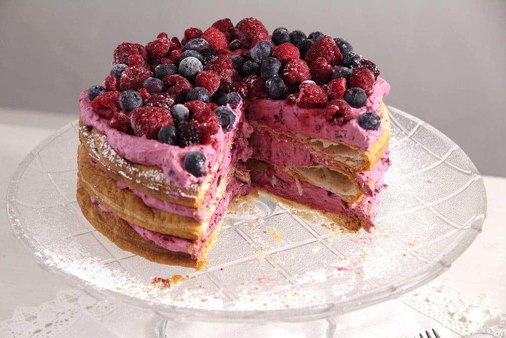berry cake Berry Puff Pastry Cake